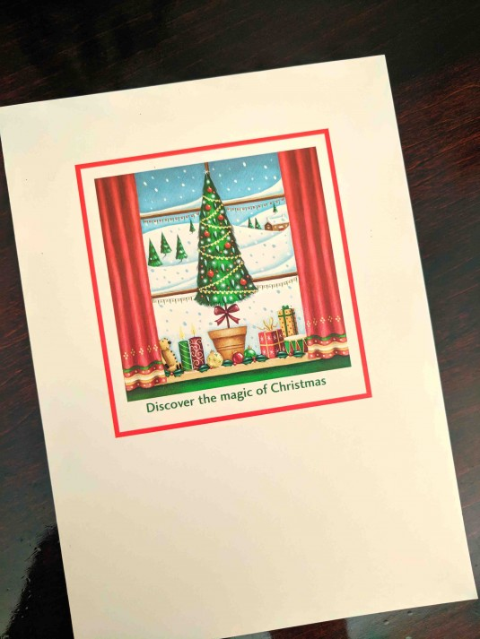 A Few of My Favorite Things - First Christmas Card of the Season
