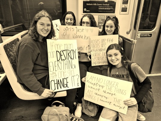 Womens March 2018 - 5 Girls on the Subway