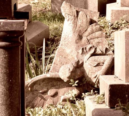 Highgate Cemetery - Fallen Angel copy