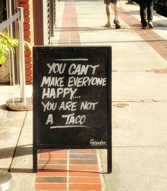 You're Not a Taco