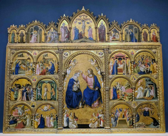 """Coronation of the Virgin Altarpiece"" by Guariento di Arpo - 1344"