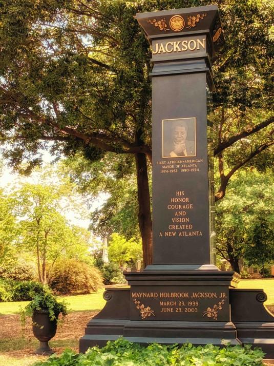 Mayor Maynard Jackson Headstone