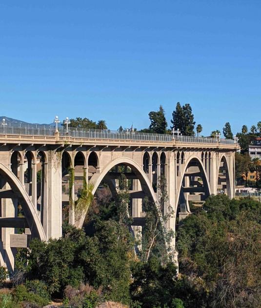 GLAW 2019 Colorado Street Bridge Pasadena Looking Back